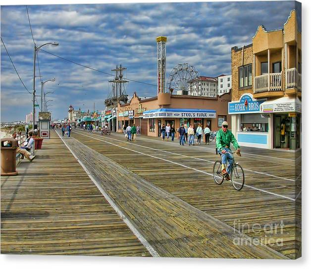 Limited Time Promotion: Ocean City Boardwalk Stretched Canvas Print