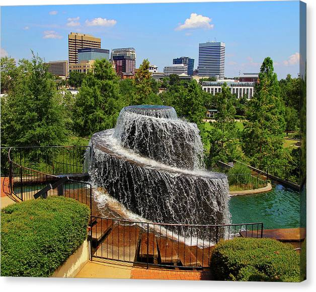 Limited Time Promotion: Finlay Park Columbia South Carolina Stretched Canvas Print