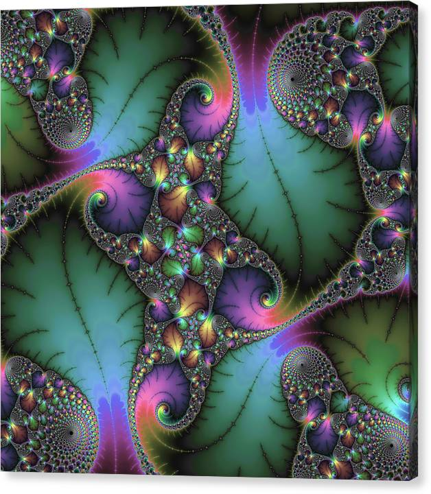 Limited Time Promotion: Stunning Mandelbrot Fractal Stretched Canvas Print by Matthias Hauser