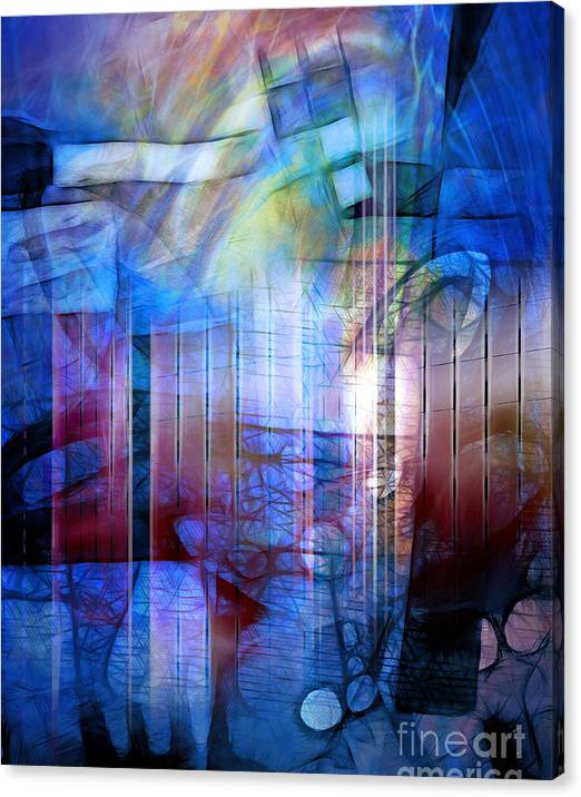Limited Time Promotion: Blue Drama Stretched Canvas Print
