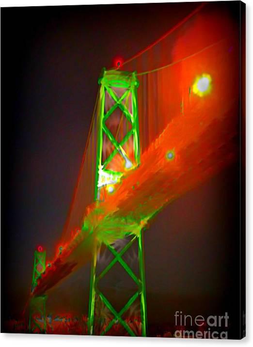 Limited Time Promotion: Halifax Nova Scotia Macdonald Bridge Stretched Canvas Print