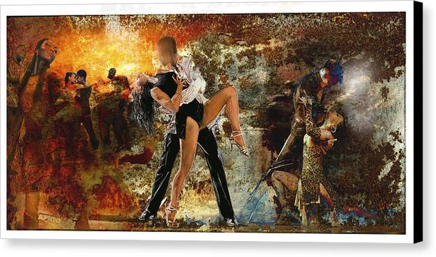 Dancers South America Canvas Print featuring the painting Samba by James Robinson