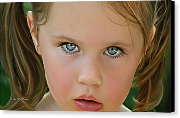 Canvas Print featuring the painting Those Eyes by Elzire S