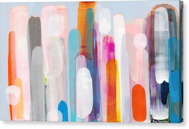Abstract Canvas Print featuring the painting Everyone's Invited by Claire Desjardins