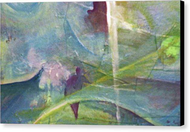 Representational Landscape Canvas Print featuring the painting Walking Between Worlds by Robert Daniels