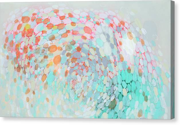 Abstract Canvas Print featuring the painting Want To Go by Claire Desjardins