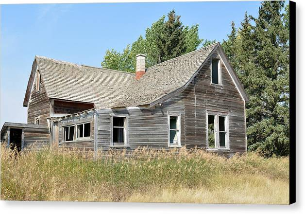 House Canvas Print featuring the photograph Why Was I Left In The Tall Grass by Ed Mosier