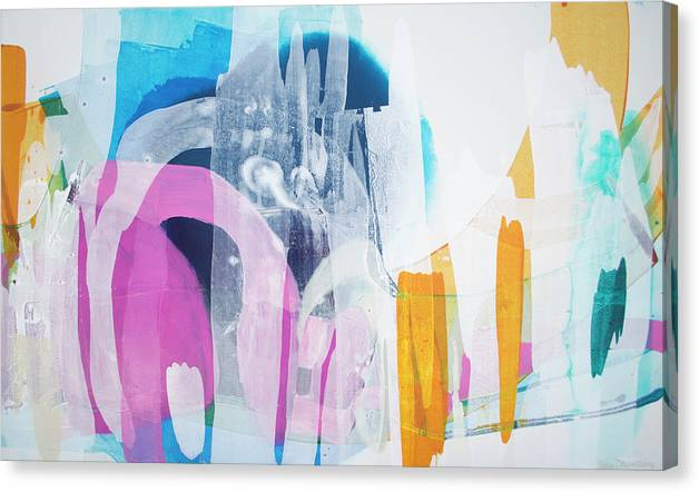 Abstract Canvas Print featuring the painting Icing On The Cake by Claire Desjardins