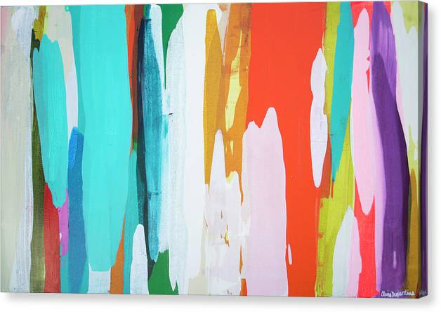 Abstract Canvas Print featuring the painting Holiday Everyday by Claire Desjardins