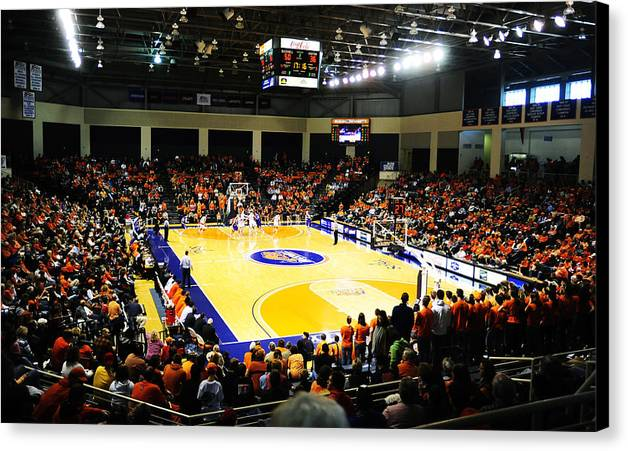 Lewisburg Canvas Print featuring the photograph Bucknell Bison Sojka Pavilion by Replay Photos