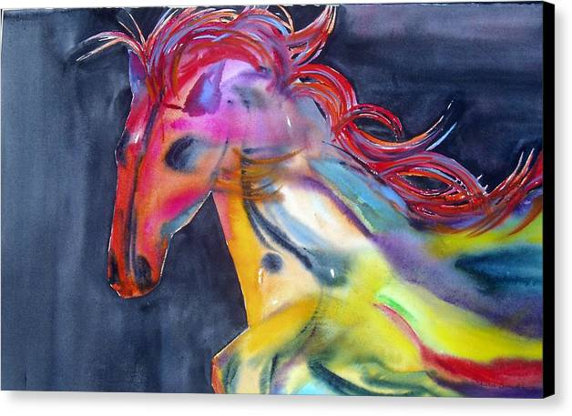 Horse Canvas Print featuring the painting Americano by Maritza Bermudez
