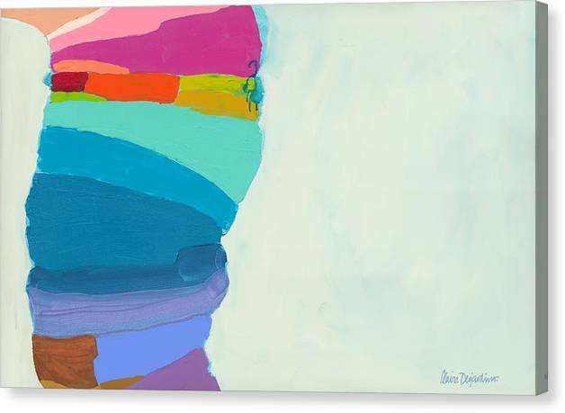 Abstract Canvas Print featuring the painting The Right Timing by Claire Desjardins