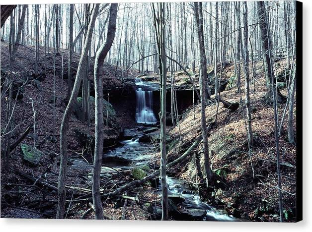 Waterfall Canvas Print featuring the photograph 111990-2 by Mike Davis
