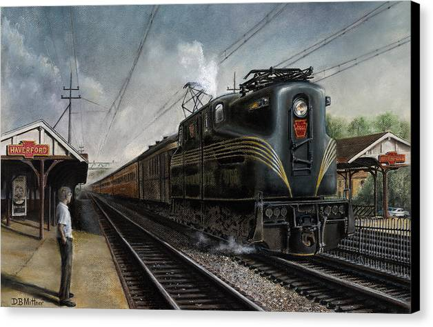 Trains Canvas Print featuring the painting Mainline Memories by David Mittner