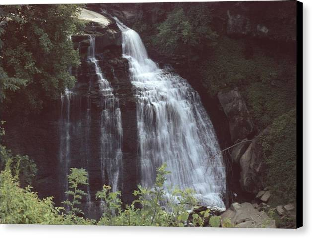 Waterfall Canvas Print featuring the photograph 031207-8 by Mike Davis