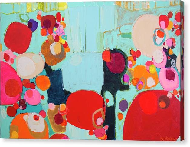 Abstract Canvas Print featuring the painting Bright As Quiet by Claire Desjardins