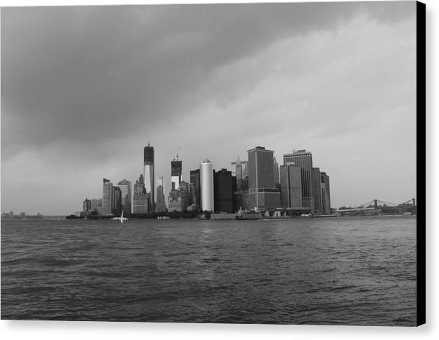 Manhattan Canvas Print featuring the photograph Manhattan by Nina Mirhabibi