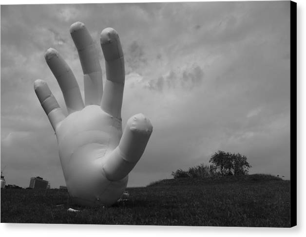 Hand Canvas Print featuring the photograph Balloon Hand by Nina Mirhabibi