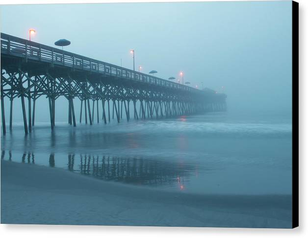Early Morning Fog at Garden City Pier by Sandi Blood