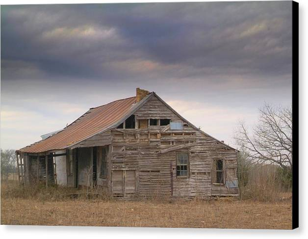Old Houses Canvas Print featuring the photograph Last House.. by Al Swasey