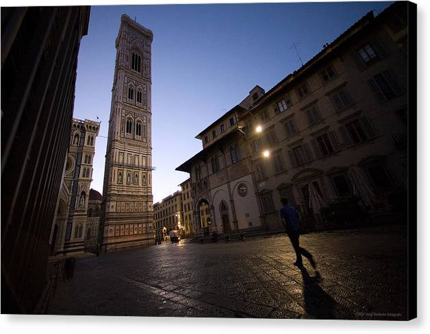 Italy Canvas Print featuring the photograph Sunrise In Florence 3 by Luigi Barbano BARBANO LLC