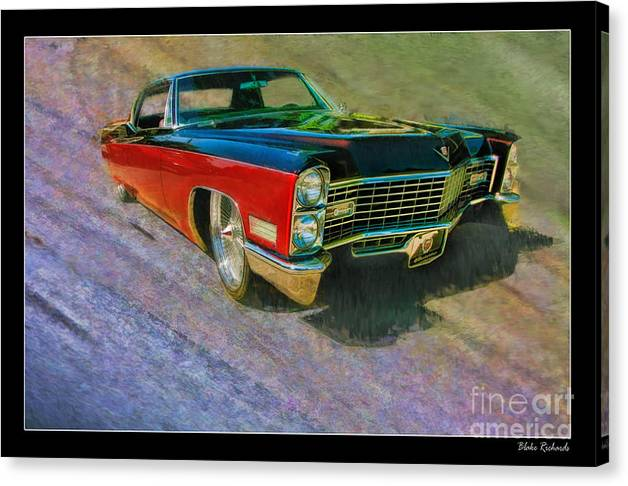 Cadillac Coupe Canvas Print featuring the photograph 1967 Cadillac Coupe by Blake Richards