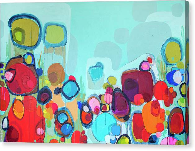 Abstract Canvas Print featuring the painting Always Will Be by Claire Desjardins