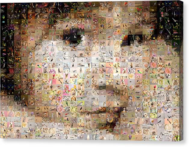 Mosaic Canvas Print featuring the digital art Love Me by Gilberto Viciedo