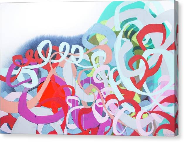 Abstract Canvas Print featuring the painting The Thrill Of It All by Claire Desjardins