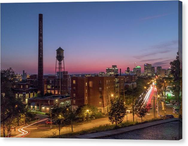 Libby Hill Rva Canvas Print featuring the photograph Libby Hill After Sunset by Doug Ash