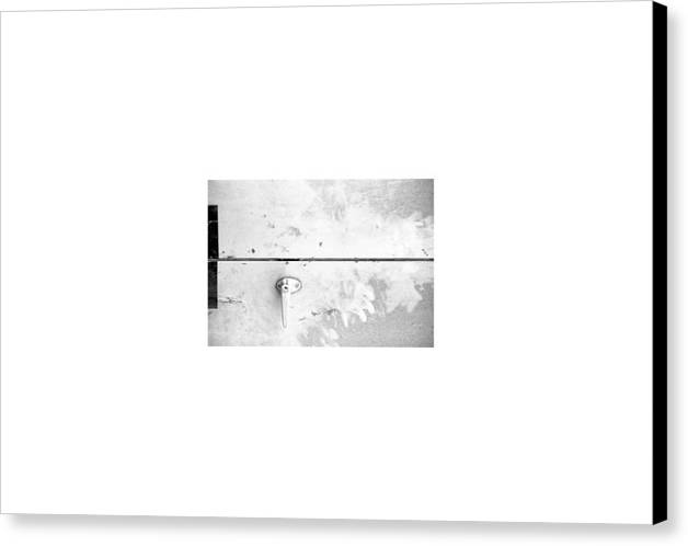 Collage Abstract Canvas Print featuring the photograph Streetart... Waiting Room by David M Davis