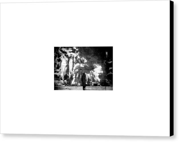 Collage Abstract Canvas Print featuring the photograph Streetart...opening by David M Davis