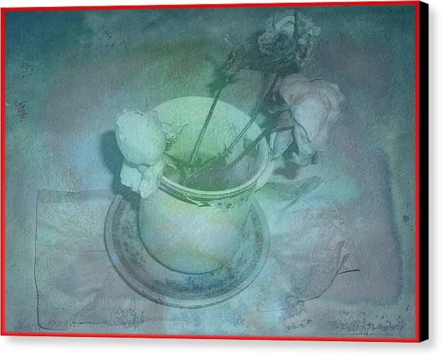 Canvas Print featuring the digital art Skyworks 1 Rose by Friedl Aigner