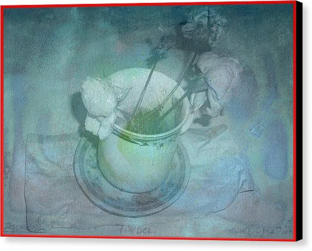 Skyworks Canvas Print featuring the digital art Skyworks 2 Rose by Friedl Aigner