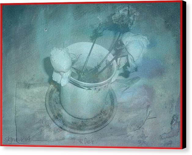 Skyworks Canvas Print featuring the digital art Skyworks 4 Rose by Friedl Aigner