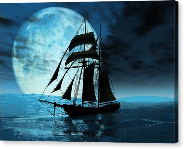 Sailing Ships Canvas Print featuring the digital art Before The Storm by Steven Palmer