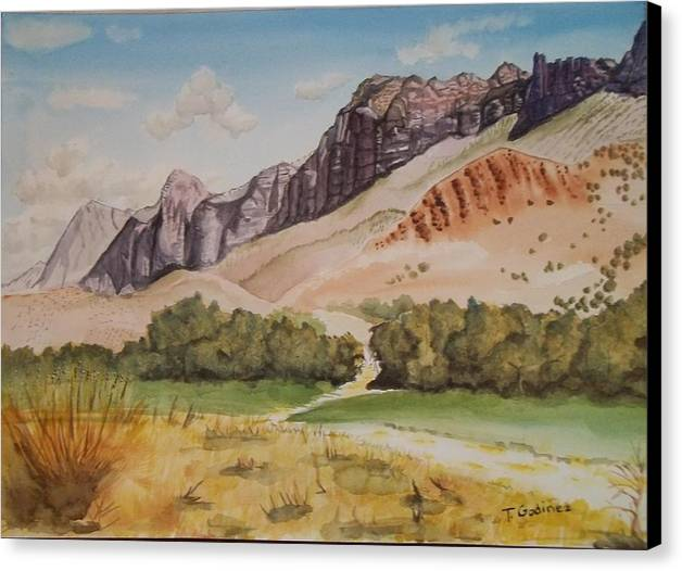 Mountain Canvas Print featuring the painting Pathway To Majesty by Terry Godinez