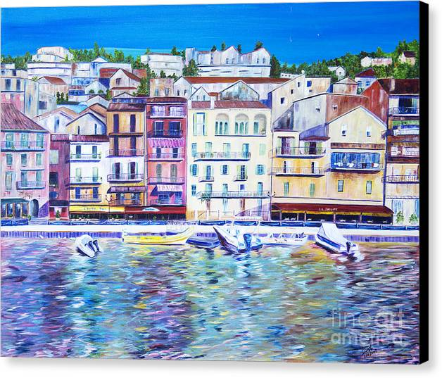 France Canvas Print featuring the painting Mediterranean Morning by JoAnn DePolo