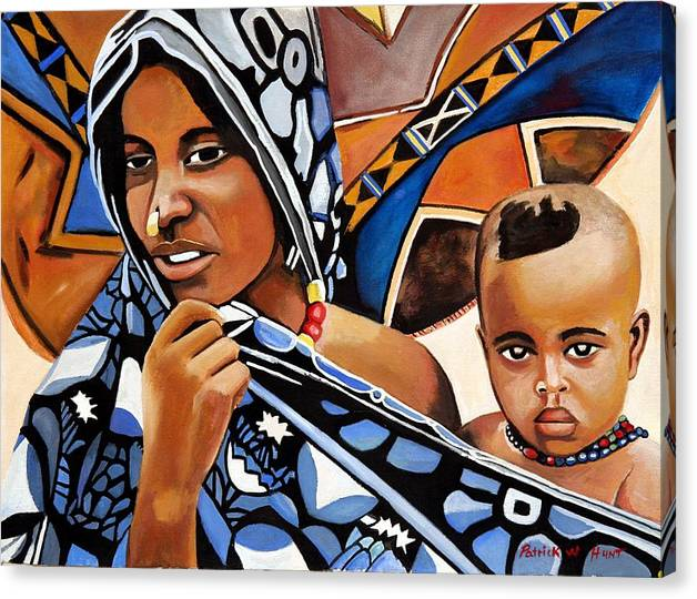 African Art Canvas Print featuring the painting My One And Only by Patrick Hunt
