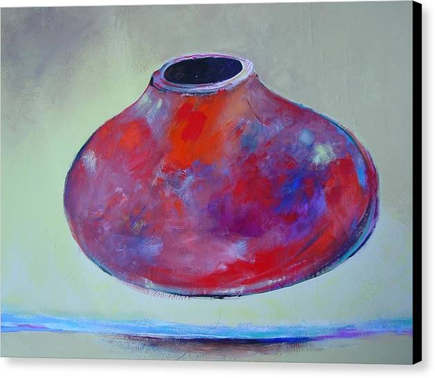 Still Life Canvas Print featuring the painting Floating Pot by Paul Miller