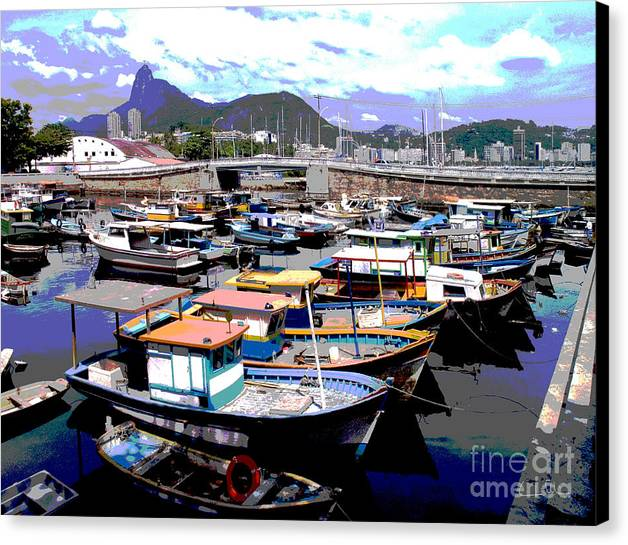 Boats Boat Canvas Print featuring the photograph Harbour 01 by Carlos Alvim