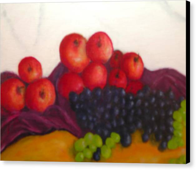 Still Life Canvas Print featuring the painting Still Life Of Fruit by Michael L Brown