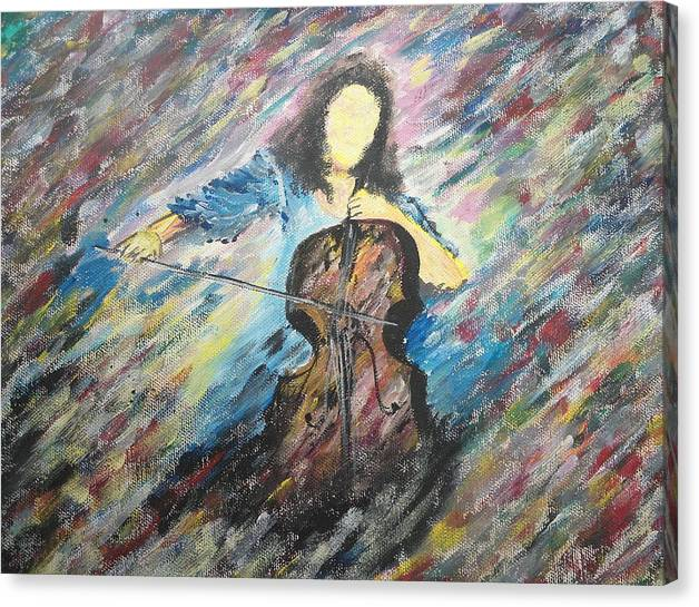 Music Canvas Print featuring the painting Eternal Beauty by Satyam Narayan
