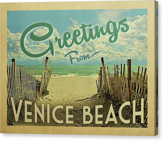 Greetings From Venice Beach by Flo Karp