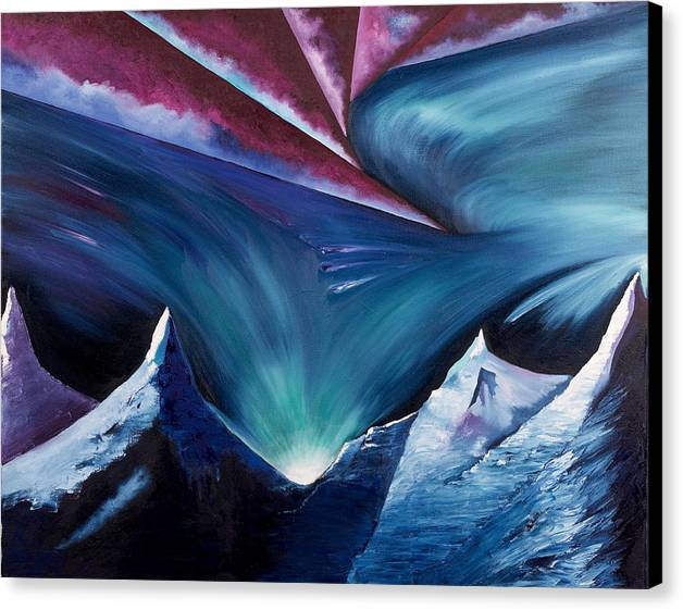 Abstract Landscape Canvas Print featuring the painting The Power Within by Ara Elena