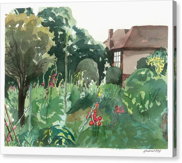 England Canvas Print featuring the painting Shottery 20x16 by Kendra Kurth Clinton
