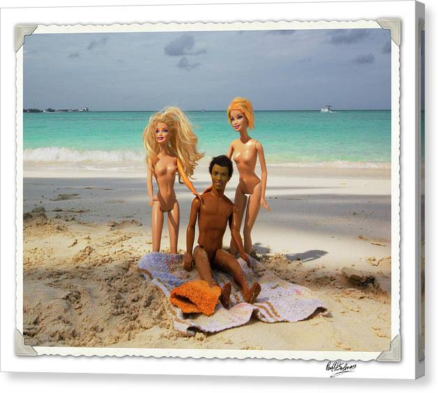 Barbie Canvas Print featuring the photograph Just The Three Of Us by Paul Solovay