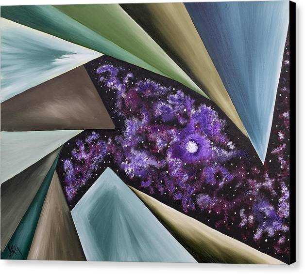 Abstract Geometry Canvas Print featuring the painting Beginning Of The Journey by Ara Elena