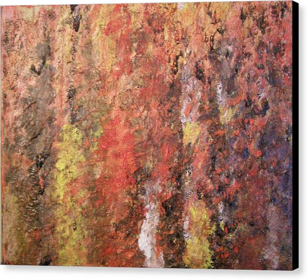 Abstract Canvas Print featuring the painting Dreaming In Fall Colors by Don Phillips