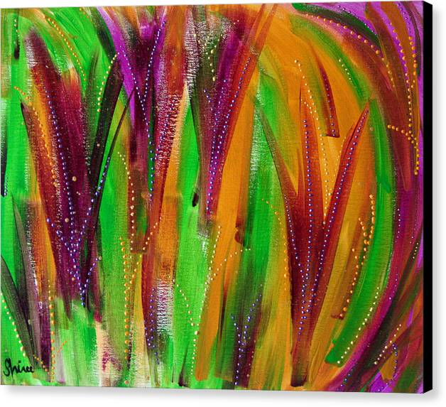 Acrylic Paintings Canvas Print featuring the painting Mardi Gras by Shiree Gilmore